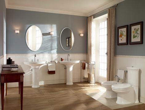 Ванная в стиле ретро: коллекции Amadea и Hommage от Villeroy & Boch | галерея [1] фото [1]