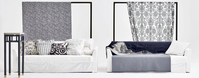 черно-белый текстиль