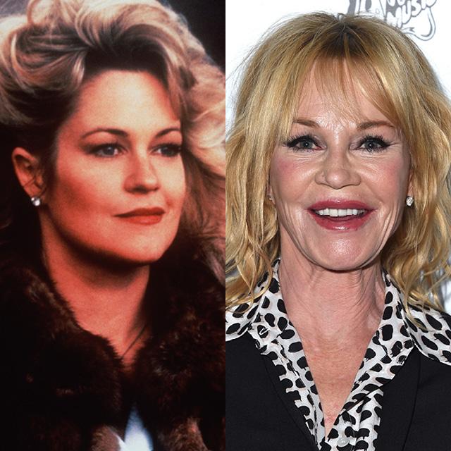 Мелани Гриффит в 1980 и в 2016