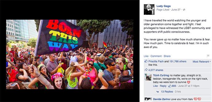 Леди Гага о легализации однополых браков в США