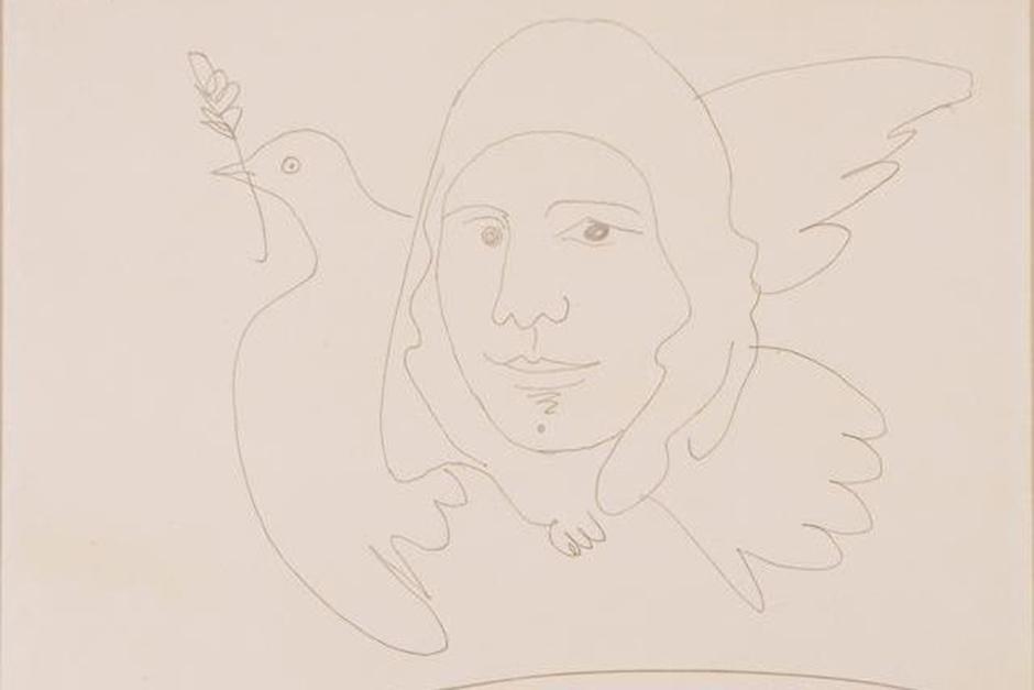 «Посвящение Гагарину», П. Пикассо, 1961 г.