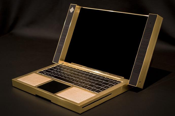 Cottin, компьютер, предметы роскоши, золото