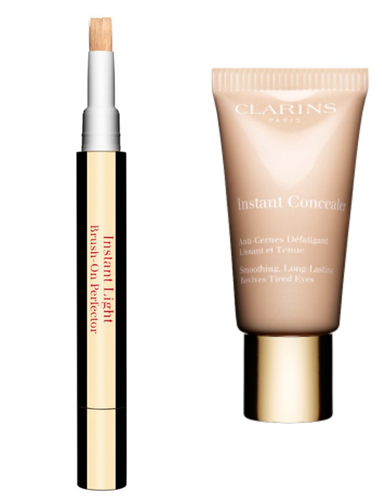 Clarins Instant Concealer + Eclat Minute Brush-On Perfector