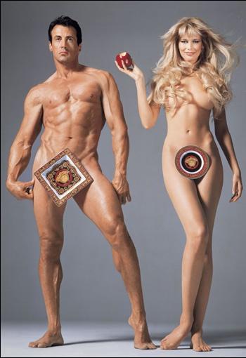 Реклама Versace Home Collection с Сильвестром Сталонне и Клаудией Шиффер