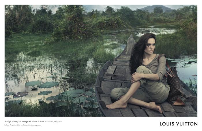 Анджелина Джоли в рекламной кампании Louis Vuitton