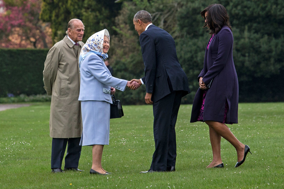 Елизавета II и Барак Обама