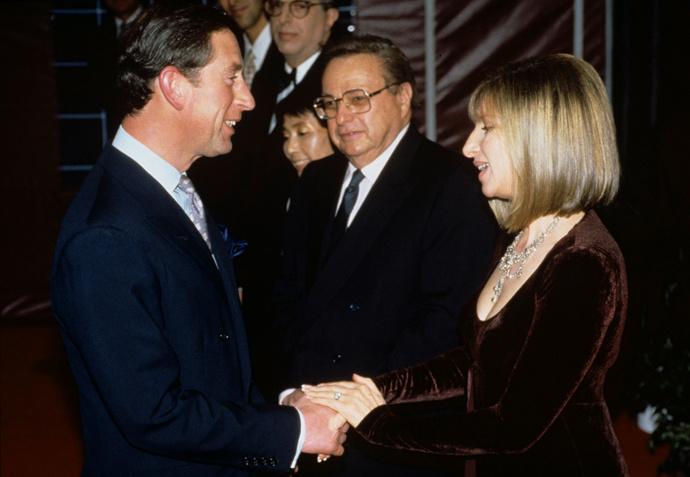Принц Чарльз и Барбра Стрейзанд в 1994 году