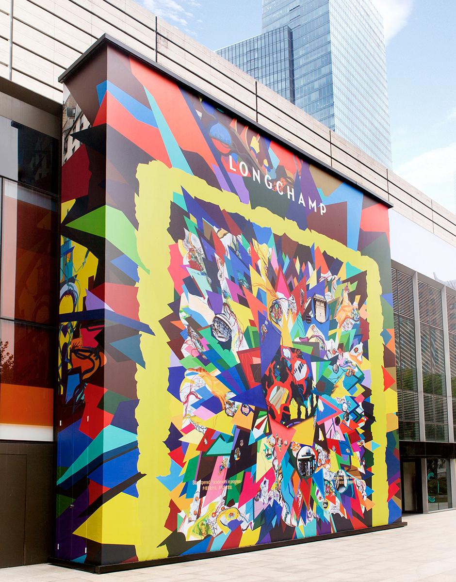 Совместный проект Longchamp с современным художником Францем Аккерманом