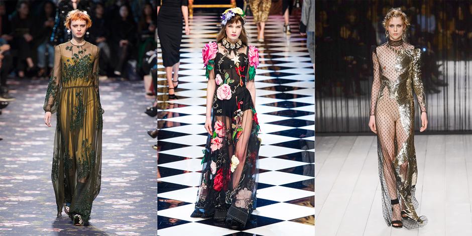 Rochas, Dolce & Gabbana, Alexander McQueen