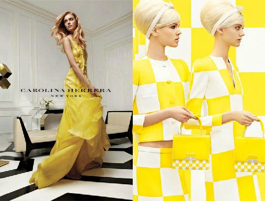 Рекламные кампании Carolina Herrera и Louis Vuitton ss 2013