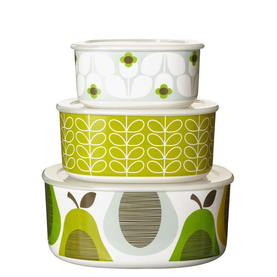 Набор посуды Garden с крышками, меламин, Orla Kiely, www.orlakiely.com