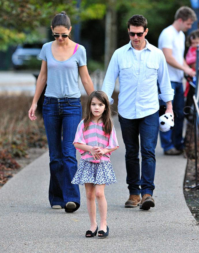 Том Круз и Кэти Холмс с дочерью Сури