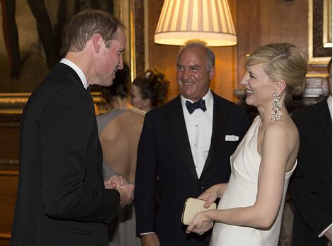 Принц Уильям и Кейт Бланшетт