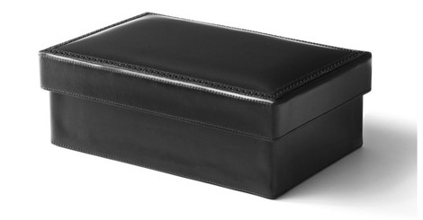 Шкатулка Brogue Box in Black, Ralph Lauren Home, www.ralphlaurenhome.com, магазины Galerie 46, Park Avenue, Lege Alto