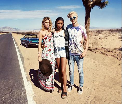 Фестивальная коллекция H&M Loves Coachella | галерея [1] фото [14]