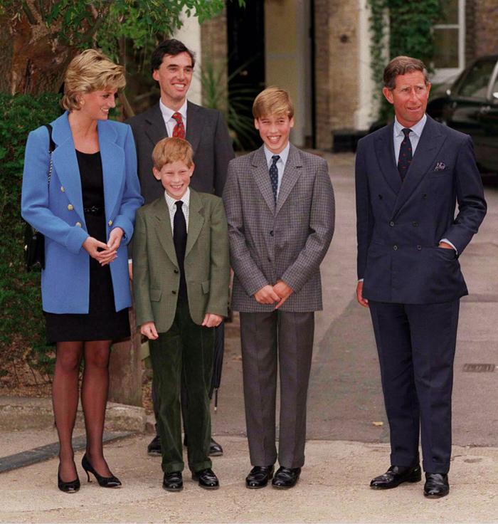 Принцесса Диана, принцы Гарри, Уильям и Чарльз
