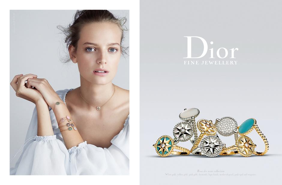 Dior представил новую рекламную кампанию ювелирной коллекции La Rose des Vents