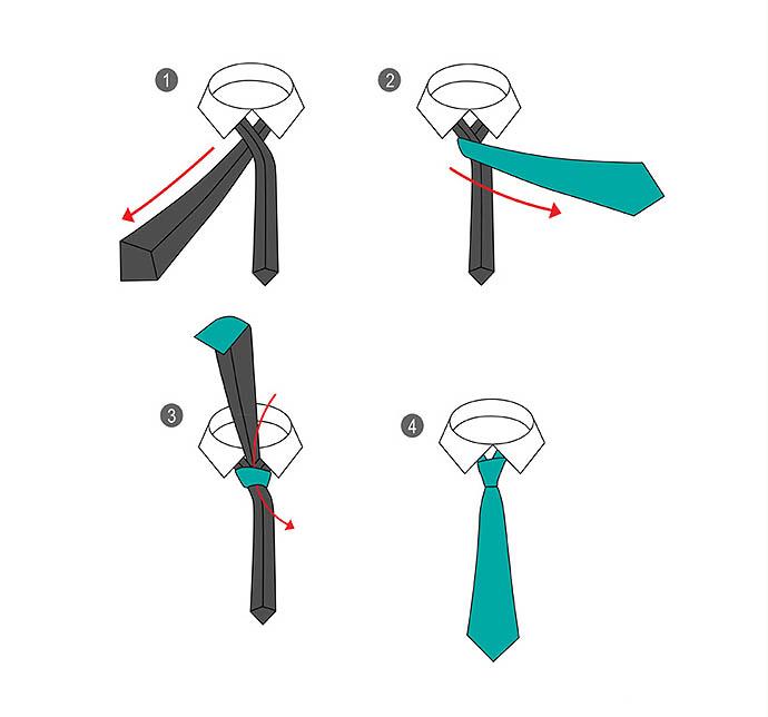 Способы завязать галстук схемы
