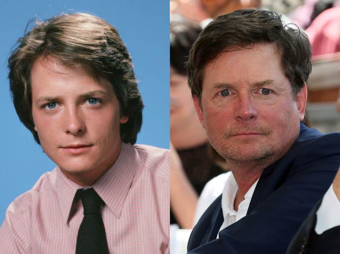 Майкл Джей Фокс в 1983 и в 2015