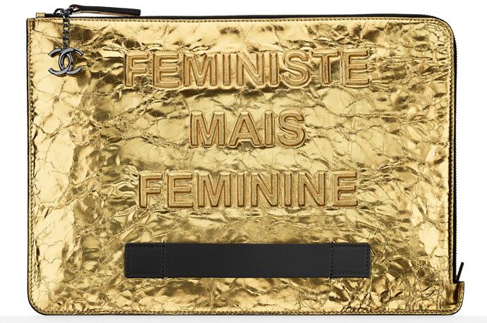 Клатч из металлизированной кожи, Chanel