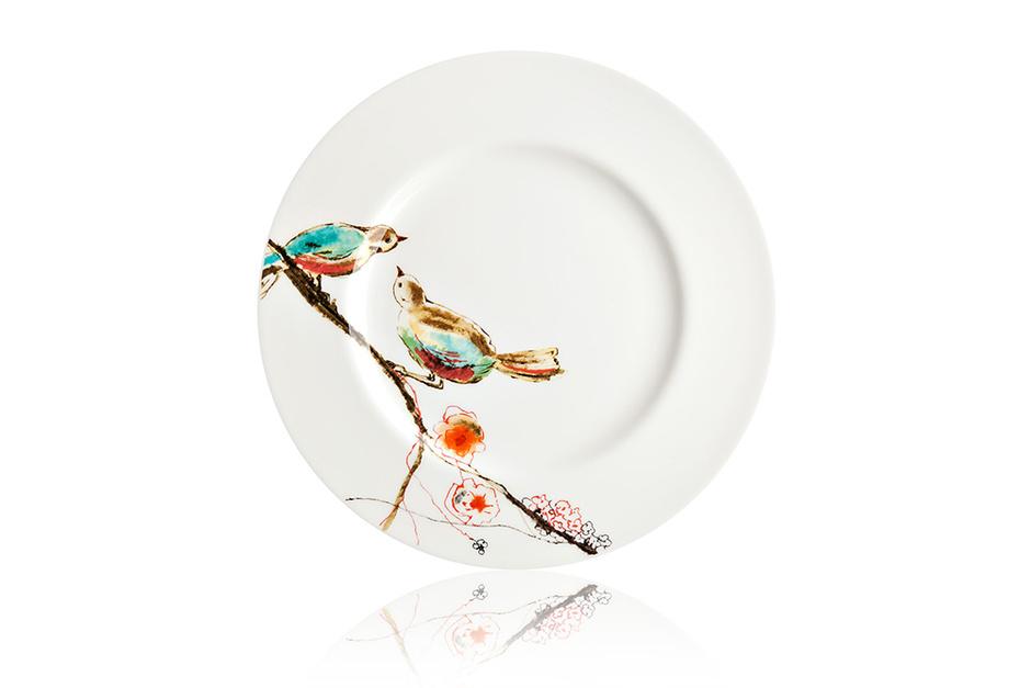 Закусочная тарелка «Щебетание птиц», Lenox, «Дом Фарфора»