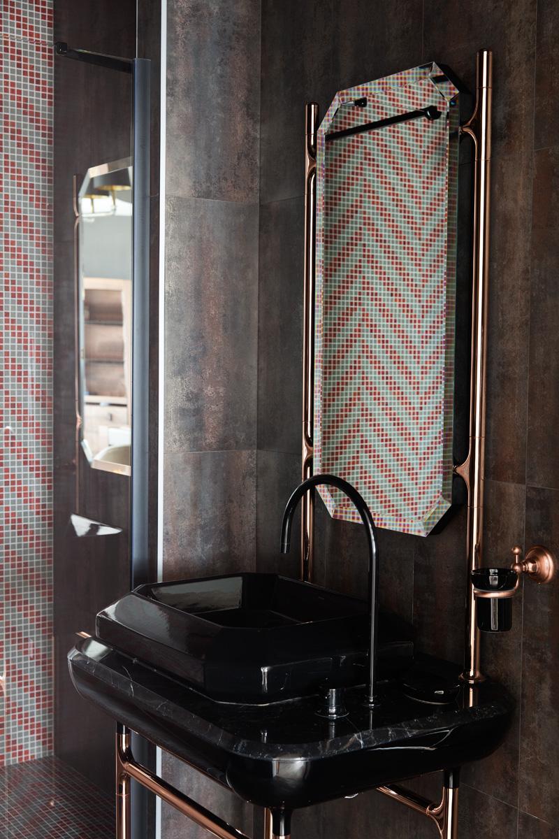 Ванная на втором этаже. Раковина, The Hayon Collection, Bisazza Bagno, мозаика, Bisazza.