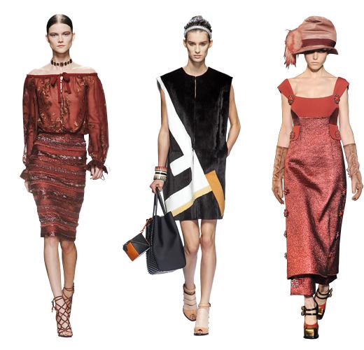 Salvatore Ferragamo осень — зима 2012/13; Fendi весна — лето 2013; Louis Vuitton осень — зима 2012/13