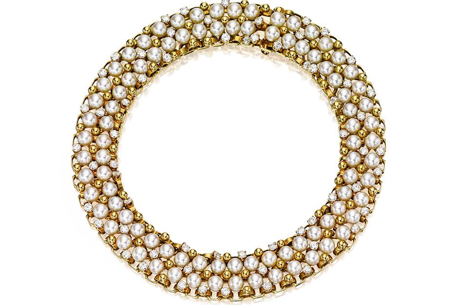 Ожерелье из золота, жемчуга