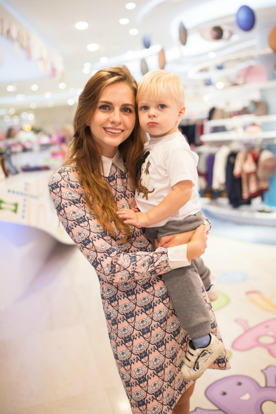 Юлия Прудько с сыном Федей