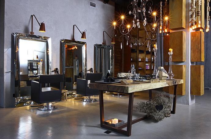 Проект архитектора Натальи Белоноговой — салон красоты Domenico Castello на Кутузовском проспекте