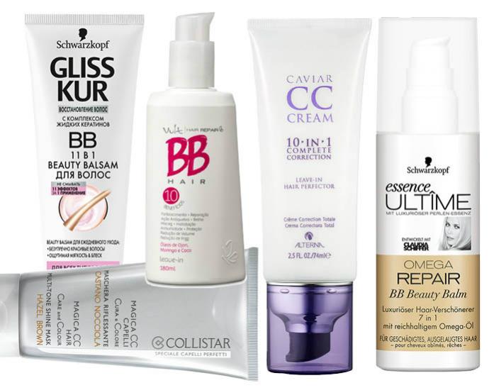 BB, CC-кремы для волос