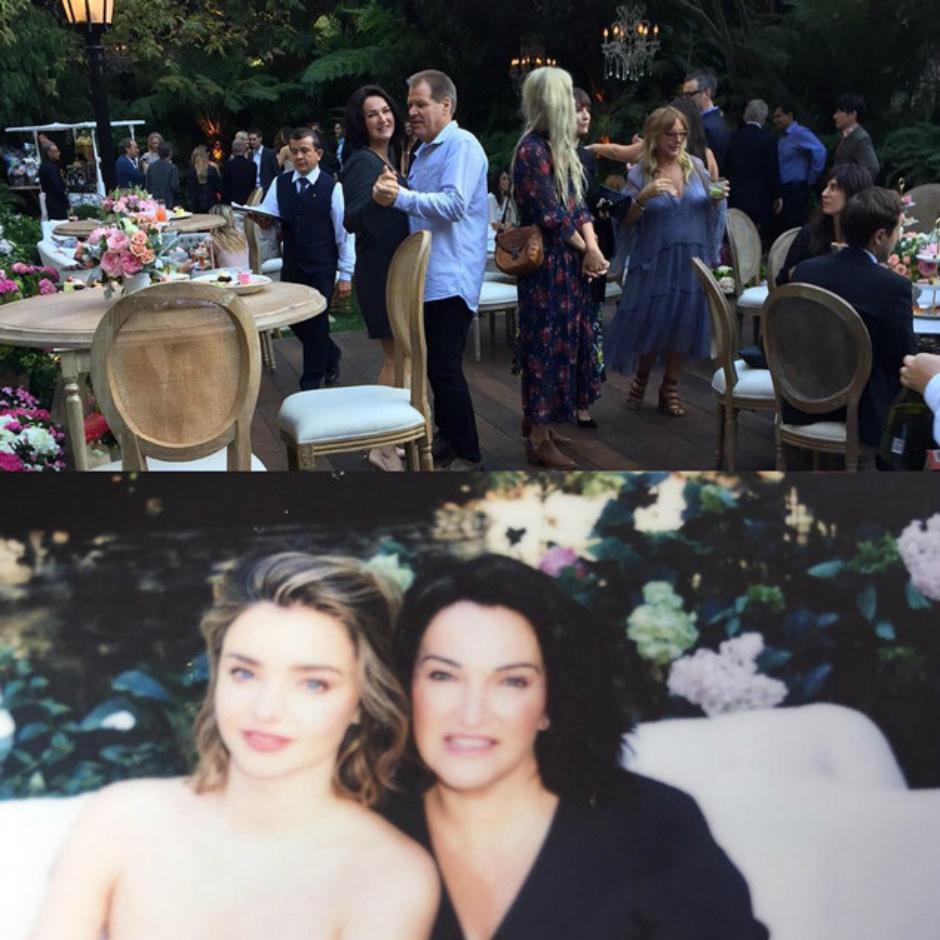 Миранда Керр и Эван Шпигель на вечеринке в честь помолвки