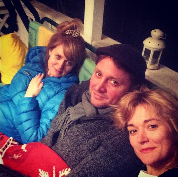 Анна, Артем и Надежда Михалковы