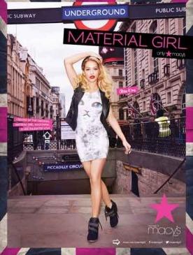 Обнародованы снимки рекламной кампании Material Girl с Ритой Орой