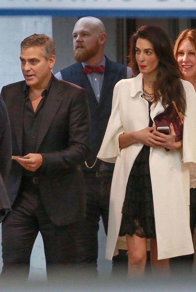 Джордж и Амаль Клуни в SoHo House