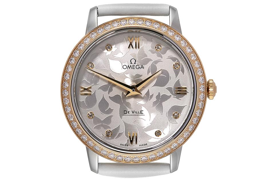 Часы De Ville Prestige, бриллианты, розовое золото, сталь, Omega, 395 200 руб.
