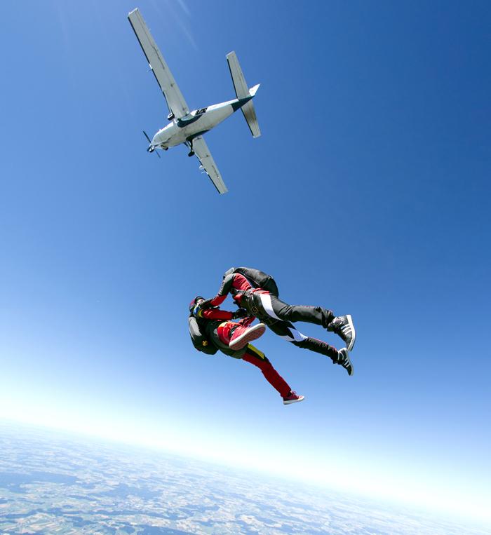 4. Прыжок с парашютом