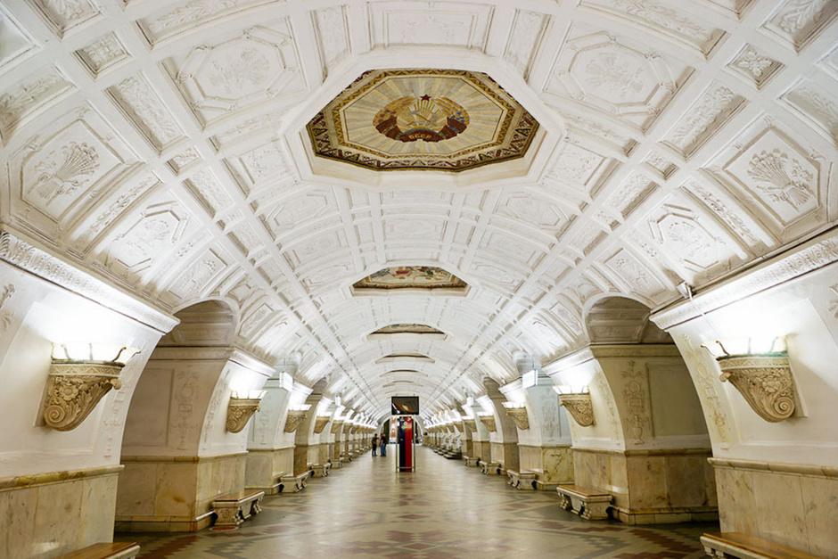 """Станция """"Белорусская"""" кольцевой линии."""
