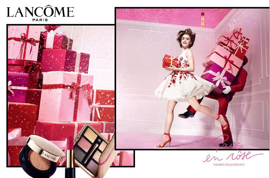 Paris en Rôse: Lancôme представил рождественскую коллекцию макияжа