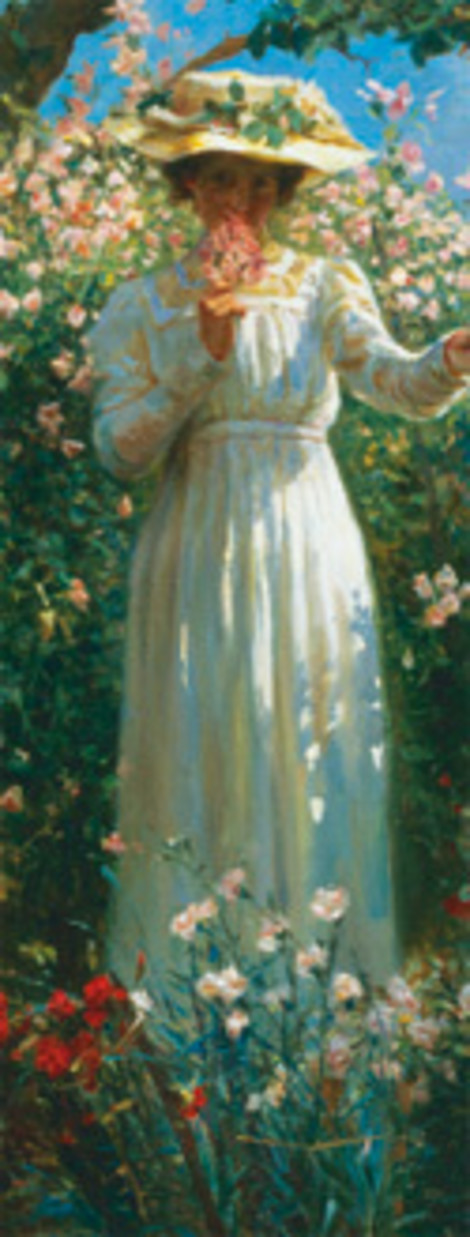 Роберт Пейтон Рейд «Летний день в цветочном саду», XIX век