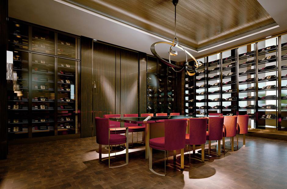 Столовая в частных апартаментах, дизайн-проект Fendi Casa.