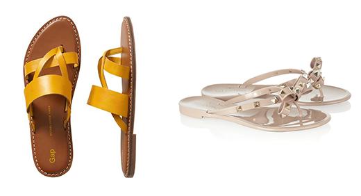 Фото пляжной обуви: GAP, Valentino