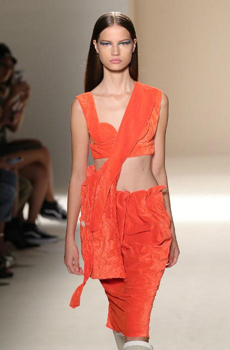Показ Victoria Beckham на Неделе моды в Нью-Йорке