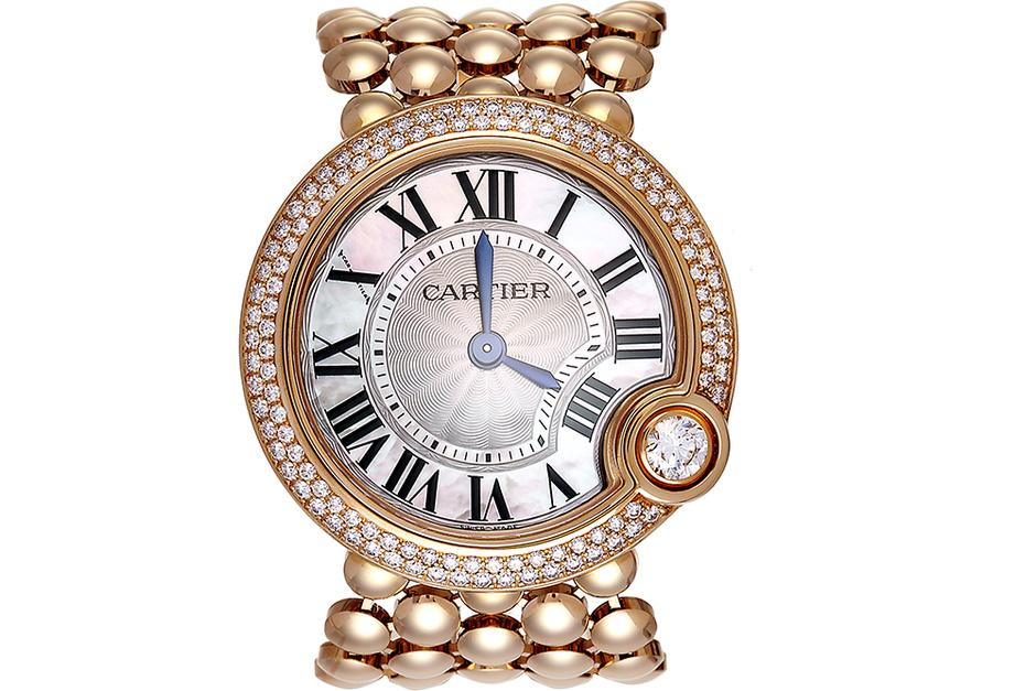 Часы Ballon Blanc de Cartier, розовое золото, бриллианты, Cartier, 2 220 000 руб.