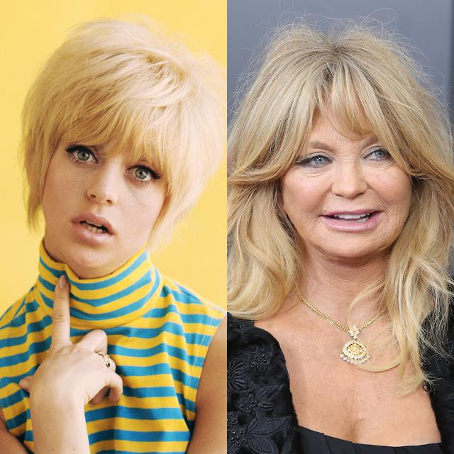 Голди Хоун в 1965 и в 2015