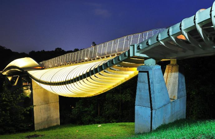 Волны Хендерсона, Сингапур красивые мосты мира фото