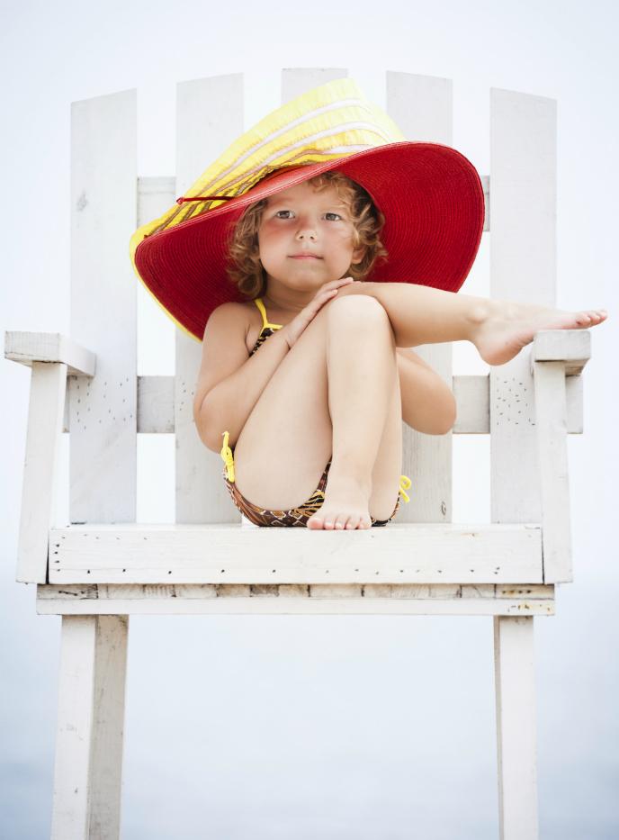 как защитить детскую кожу на пляже