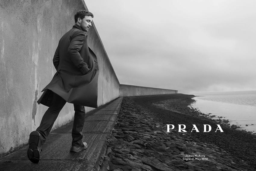 Джеймс Макэвой в рекламной кампании Prada