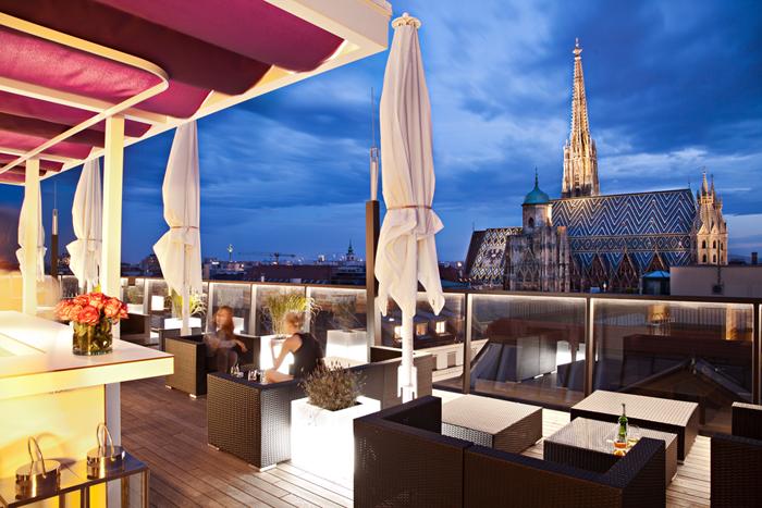 Терраса отеля Lamee (Вена)