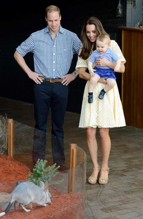 Кейт Миддлтон с принцем в зоопарке Австралии